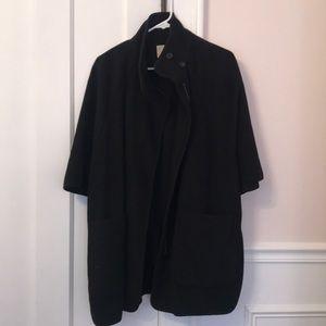 Oversized cape coat